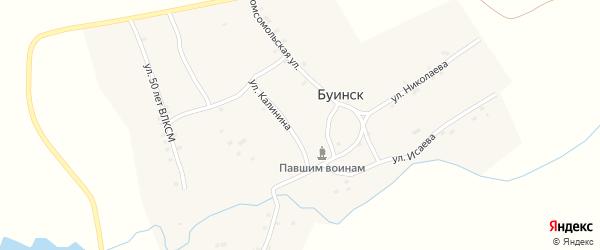 Улица Калинина на карте деревни Буинска с номерами домов