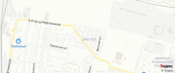 Тинакская улица на карте Астрахани с номерами домов