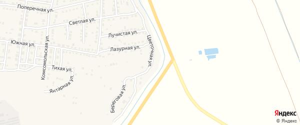Цветочная улица на карте Камызяка с номерами домов