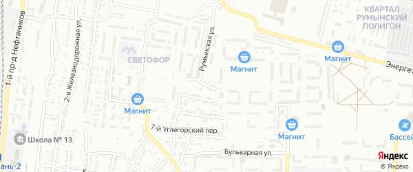 Углегорский 10-й переулок на карте Астрахани с номерами домов