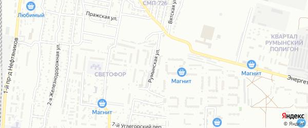 Румынская улица на карте Астрахани с номерами домов