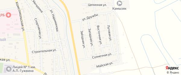 Западная улица на карте Камызяка с номерами домов
