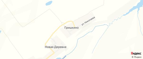 Карта деревни Гришкино в Чувашии с улицами и номерами домов