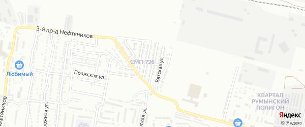Папанинская улица на карте Астрахани с номерами домов