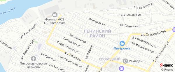 Индустриальная улица на карте Астрахани с номерами домов