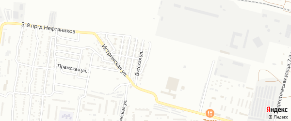 Валуйская улица на карте Астрахани с номерами домов