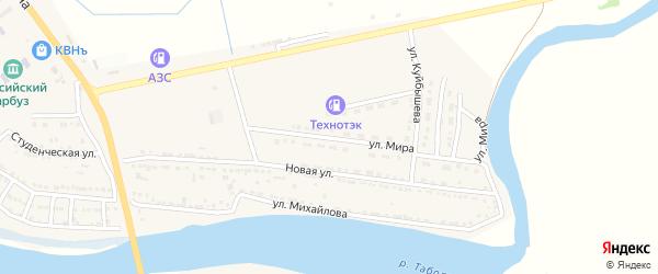 Улица Мира на карте Камызяка с номерами домов