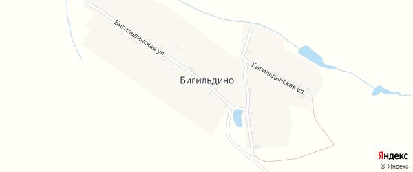 Бигильдинская улица на карте деревни Бигильдино с номерами домов