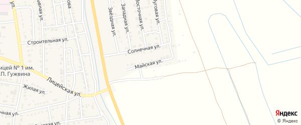 Майская улица на карте Камызяка с номерами домов