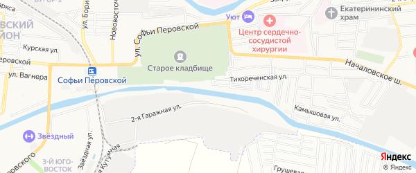 СТ Свободный труд на карте Астрахани с номерами домов