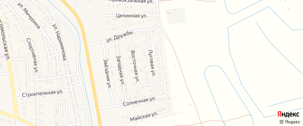 Луговая улица на карте Камызяка с номерами домов
