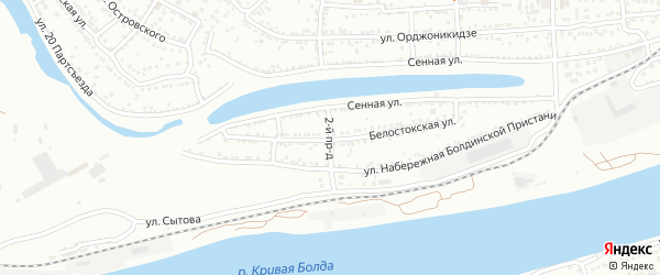 Набережная Болдинской пристани 2-й проезд на карте Астрахани с номерами домов