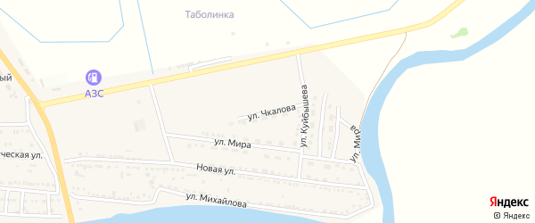 Улица Чкалова на карте Камызяка с номерами домов