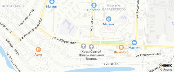 Сенной 2-й переулок на карте Астрахани с номерами домов