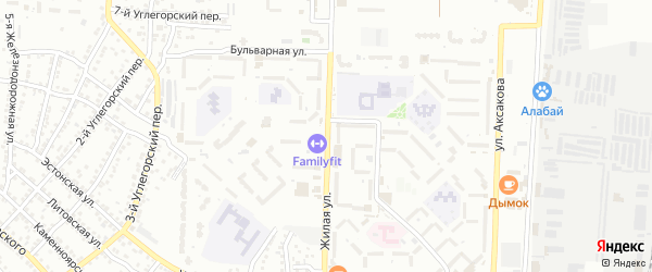 Жилая улица на карте Астрахани с номерами домов