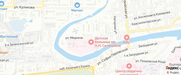 Улица Медиков на карте Астрахани с номерами домов