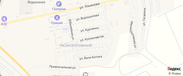 Улица Космонавтов на карте Камызяка с номерами домов