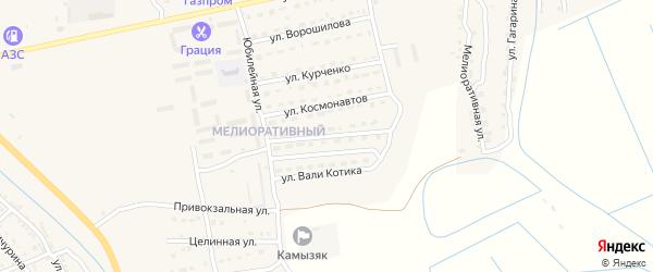 Улица Олега Кошевого на карте Камызяка с номерами домов