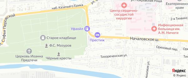 Тихореченская 3-я улица на карте Астрахани с номерами домов