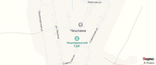 Улица Казарма на карте деревни Чешламы с номерами домов