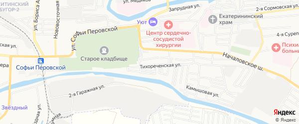 СТ Юбилейный год на карте Астрахани с номерами домов