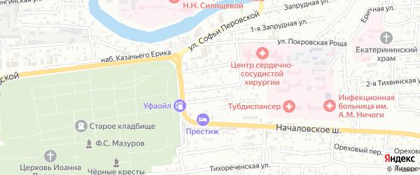 Постовой 1-й переулок на карте Астрахани с номерами домов