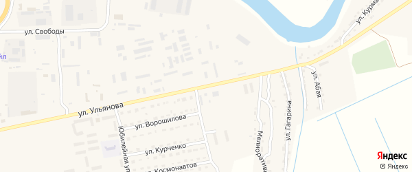 Улица Ульянова на карте Камызяка с номерами домов
