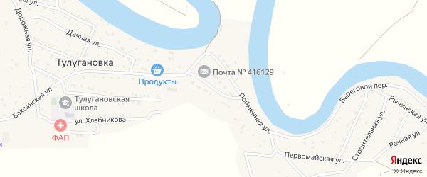 Улица Вересаева на карте села Тулугановки с номерами домов