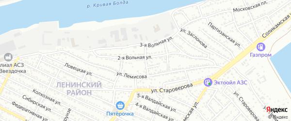 Лемисова 4-й переулок на карте Астрахани с номерами домов