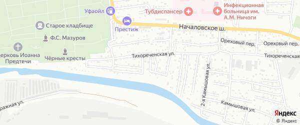 Кутумный 1-й переулок на карте Астрахани с номерами домов