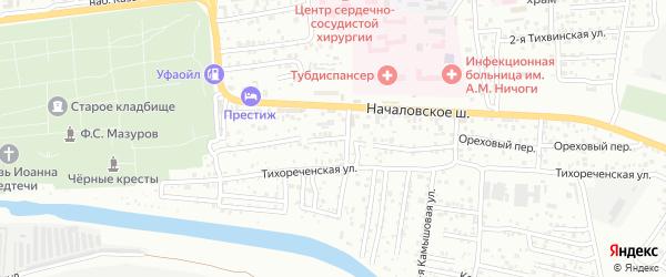 Тихореченская 2-я улица на карте Астрахани с номерами домов
