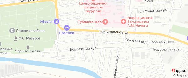 Инфекционный переулок на карте Астрахани с номерами домов
