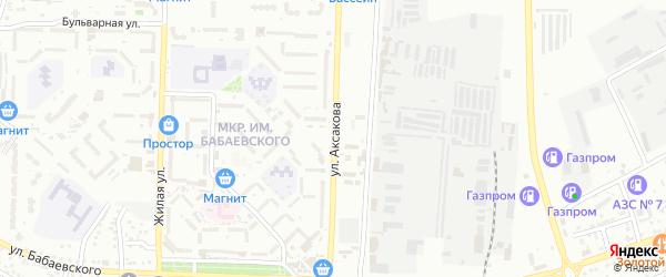 Улица Аксакова на карте Астрахани с номерами домов
