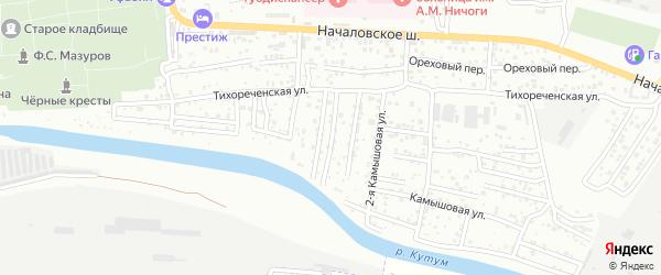 Объединенный 1-й переулок на карте Астрахани с номерами домов