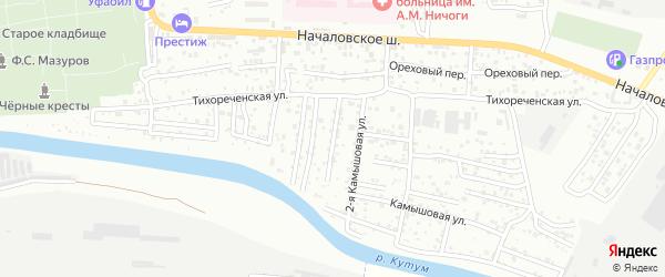Объединенный переулок на карте Астрахани с номерами домов