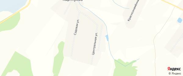 Карта деревни Картлуево в Чувашии с улицами и номерами домов