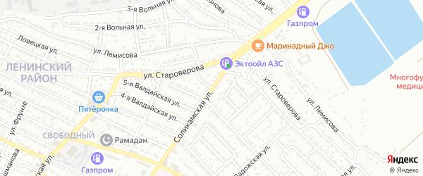 Соликамский переулок на карте Астрахани с номерами домов