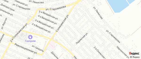 Улица Кавказская 1-й проезд на карте Астрахани с номерами домов