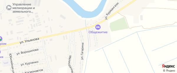 Улица Джамбула на карте Камызяка с номерами домов