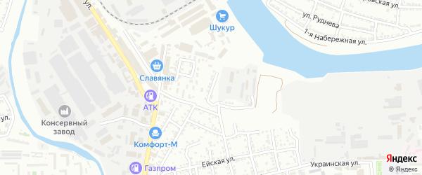Балхашская улица на карте Астрахани с номерами домов