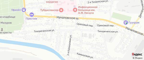Тихореченская улица на карте Астрахани с номерами домов