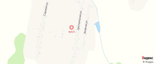 Центральная улица на карте деревни Картлуево с номерами домов