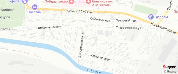 Камышовый 1-й переулок на карте Астрахани с номерами домов