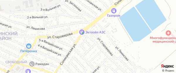 Нерчинская 1-я улица на карте Астрахани с номерами домов