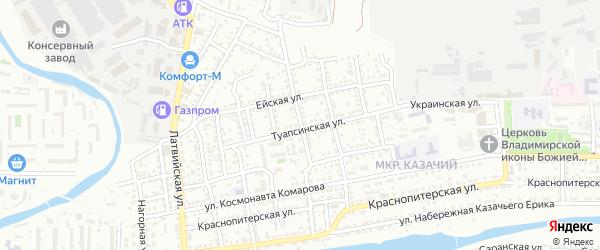 Улица Достоевского на карте Астрахани с номерами домов
