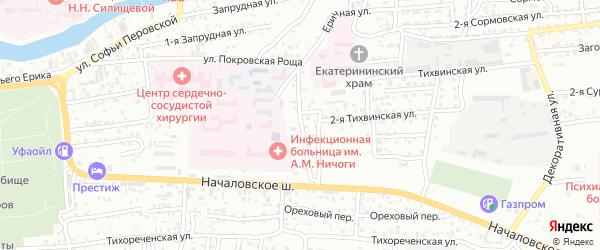 Тихвинская 3-я улица на карте Астрахани с номерами домов
