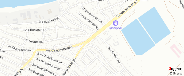 Соликамская улица на карте Астрахани с номерами домов
