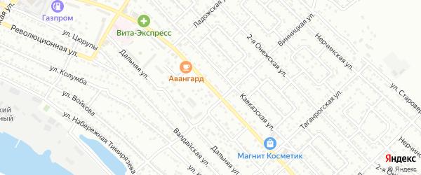 Новороссийская улица на карте Астрахани с номерами домов