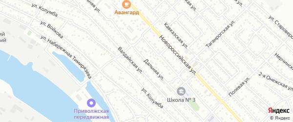 Дальняя улица на карте Астрахани с номерами домов