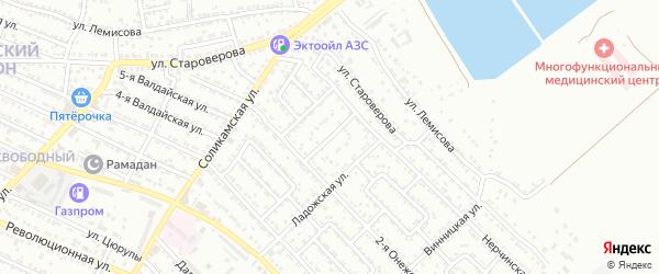 Норильская улица на карте Астрахани с номерами домов